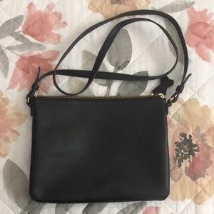 Dual zip crossbody bag